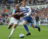 Photo: Lee Earle.<br /> Reading v West Ham United. The FA Barclays Premiership. 01/09/2007.West Ham's Anton Ferdinand (L) battles with Dave Kitson.
