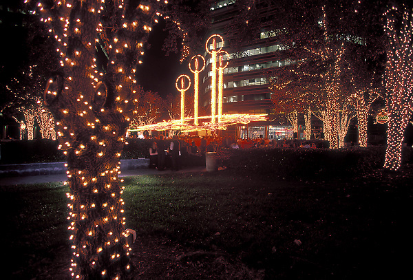 Houston lights up during the holiday season.