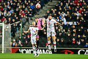 MK Dons defender Matt Upson during the The FA Cup Third Round Replay match between Milton Keynes Dons and Northampton Town at stadium:mk, Milton Keynes, England on 19 January 2016. Photo by Dennis Goodwin.