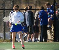 Gilford versus Interlakes varsity tennis match.    Karen Bobotas/for the Laconia Daily Sun