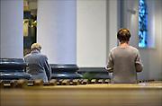 Nederland, Wijchen, 15-8-2015 Een dienst met Maria als middelpunt in de St Antonius abt kerk. Op 15 augustus viert de Kerk het hoogfeest van Maria Tenhemelopneming en gedenkt hiermee het feit dat Maria na haar dood met ziel en lichaam door God in de hemel werd opgenomen. Het feest is ontstaan in het Oosten en in de 7e eeuw door Rome overgenomen. Maria Tenhemelopneming geldt voor de Katholieke Kerk als het belangrijkste Mariafeest. FOTO: FLIP FRANSSEN/ HOLLANDSE HOOGTE