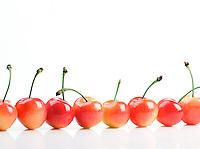 Cherries on white background - studio shot