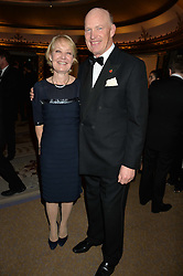 JOHN GOSDEN and RACHEL GOSDEN at the 26th Cartier Racing Awards held at The Dorchester, Park Lane, London on 8th November 2016.