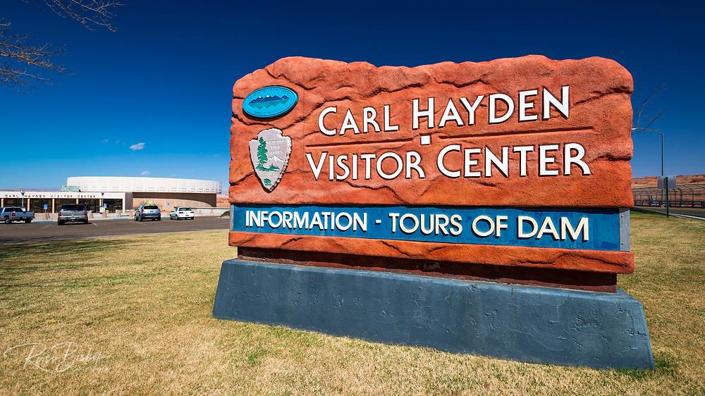 Carl Hayden Visitor Center at Glen Canyon Dam, Glen Canyon National Recreation Area, Page, Arizona USA
