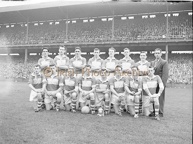Dublin vs Derry, All Ireland Final at Croke Park. Derry team shot.   ..28.09.1958, 09.28.1958, 28th September 1958