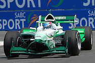 DURBAN, South Africa, Team Pakistan's Adam Khan  (15th 1:19:783) during the third practice session held as part of the A1GP race weekend in Durban, South Africa on Saturday 23 February 2008.  Photo: SportsPics/SPORTZPICS
