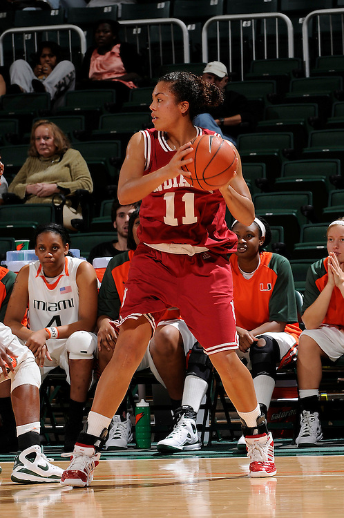 December 5, 2008: Whitney Thomas of the Indiana Hoosiers in action during the NCAA basketball game between the Miami Hurricanes and the Indiana Hoosiers. The Hoosiers defeated the 'Canes 69-54.