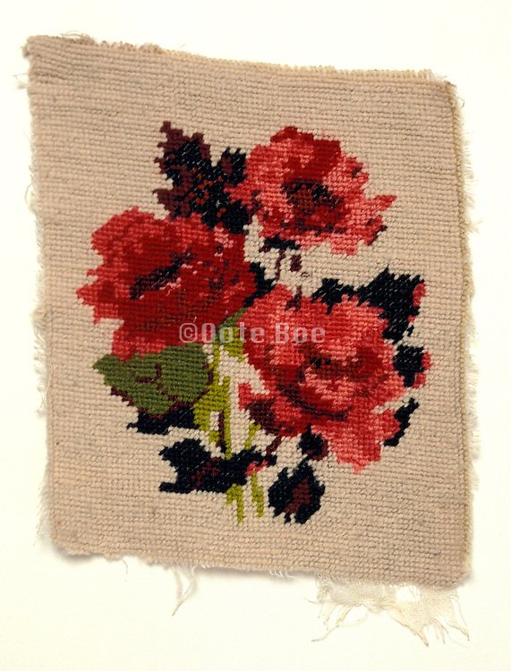Tapestry with roses