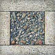 Pervious pavement detail of stormwater management facilities, Director Park, Portland, Oregon.