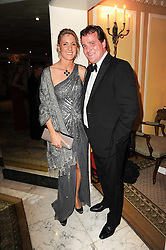 RICHARD HANNON jnr. and his wife JEMIMA at the 20th annual Cartier Racing Awards - the most prestigious award ceremony within European horseracing, held at The Dorchester Hotel, Park Lane, London on 16th November 2010.