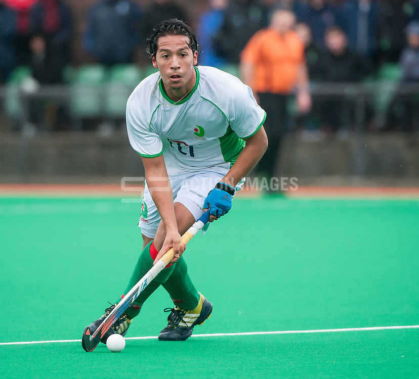 Canterbury's Francisco Montoya. Canterbury v Brooklands - Now: Pensions Hockey League Premier Division, Polo Farm, Canterbury, UK on 28 February 2015. Photo: Simon Parker