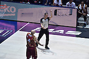 DESCRIZIONE : Bologna Lega A 2015-16 Obiettivo Lavoro Virtus Bologna - Umana Reyer Venezia<br /> GIOCATORE : Arbitro Referee<br /> CATEGORIA : Arbitro Referee Mani Delusione<br /> SQUADRA : Umana Reyer Venezia<br /> EVENTO : Campionato Lega A 2015-2016<br /> GARA : Obiettivo Lavoro Virtus Bologna - Umana Reyer Venezia<br /> DATA : 04/10/2015<br /> SPORT : Pallacanestro<br /> AUTORE : Agenzia Ciamillo-Castoria/GiuloCiamillo<br /> <br /> Galleria : Lega Basket A 2015-2016 <br /> Fotonotizia: Bologna Lega A 2015-16 Obiettivo Lavoro Virtus Bologna - Umana Reyer Venezia