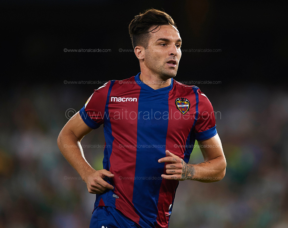 SEVILLE, SPAIN - SEPTEMBER 25:  Antonio Garcia Arande of Levante UD  looks on during the La Liga match between Real Betis and Levante at Estadio Benito Villamarin on September 25, 2017 in Seville, .  (Photo by Aitor Alcalde Colomer/Getty Images)