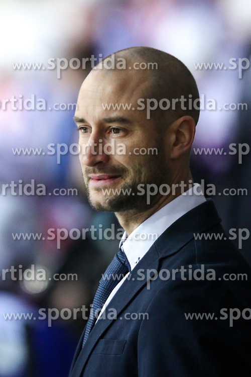Ales Burja, assistant coach of Slovenia, during friendly ice hockey match between Slovenia and Croatia, on April 12, 2016 in Ledena dvorana, Bled, Slovenia. Photo By Matic Klansek Velej / Sportida