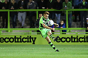 Forest Green Rovers Mark Roberts(21) clears the ball during the EFL Sky Bet League 2 match between Forest Green Rovers and Swindon Town at the New Lawn, Forest Green, United Kingdom on 22 September 2017. Photo by Shane Healey.