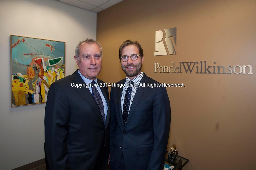 Roger Pondel, left, CEO, and Evan Pondel, president, of Pondel Wilkinson Inc.<br /> (Photo by Ringo Chiu/PHOTOFORMULA.com)