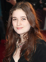 LONDON - OCTOBER 13: Alice Englert attended the screening of 'Ginger And Rosa' at the Odeon West End, Leicester Square, London, UK. October 13, 2012. (Photo by Richard Goldschmidt)