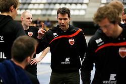 29-01-2013 VOLLEYBAL: BEKER TILBURG STV - ABIANT LYCURGUS 2 : TILBURG <br /> Harmen Bijsterbosch is niet blij met het vertoonde spel van zijn team, Tilburg STV <br /> &copy;2012-FotoHoogendoorn.nl / Pim Waslander