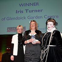 Perthshire Chamber of Commerce Business Star Awards 2009.......26.11.09<br /> Perthshire Advertiser Employee of the Year Star Award presented by Alison Lowson to Iris Turner from Glendoick Garden Centre<br /> Picture by Graeme Hart.<br /> Copyright Perthshire Picture Agency<br /> Tel: 01738 623350  Mobile: 07990 594431