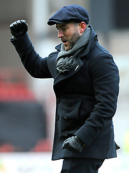 Bristol City head coach Lee Johnson  celebrates at the final whistle - Mandatory by-line: Nizaam Jones/JMP - 17/03/2018 - FOOTBALL - Ashton Gate Stadium- Bristol, England - Bristol City v Ipswich Town - Sky Bet Championship