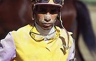 Retrato de un jinete, después de finalizada la competencia de caballos. La Rinconada, 2000.  The jockeys are indispensable for the races of horses. La Rinconada, 2000. (Ramón Lepage/Orinoquiaphoto)