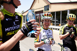 Stage winner, Amanda Spratt (AUS) catches up with her teammates after Stage 2 of 2020 Santos Women's Tour Down Under, a 114.9 km road race from Murray Bridge to Birdwood, Australia on January 17, 2020. Photo by Sean Robinson/velofocus.com