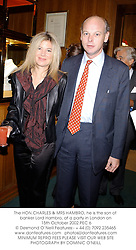 The HON.CHARLES & MRS HAMBRO, he is the son of banker Lord Hambro, at a party in London on 15th October 2002.		PEC 6