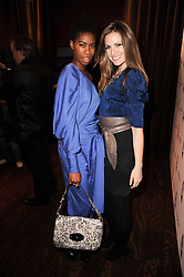 Left to right, TOLULA ADEYEMI and OLIVIA LEE at a party to celebrate the launch of the Nokia X6 16GB phone held at Sketch, 9 Conduit Street, London on 3rd March 2010.