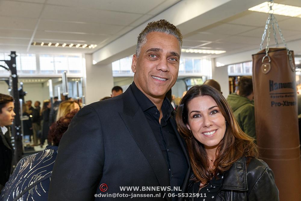 NLD/Hilversum/20180114 - opening Personal Power Gym Hilversum, Franlin Brown en ex danseres Cindy