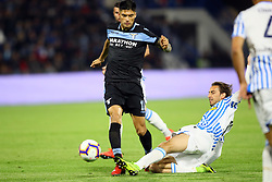 "Foto LaPresse/Filippo Rubin<br /> 03/04/2019 Ferrara (Italia)<br /> Sport Calcio<br /> Spal - Lazio - Campionato di calcio Serie A 2018/2019 - Stadio ""Paolo Mazza""<br /> Nella foto: JOAQUIN CORREA (LAZIO)<br /> <br /> Photo LaPresse/Filippo Rubin<br /> April 03, 2019 Ferrara (Italy)<br /> Sport Soccer<br /> Spal vs Lazio - Italian Football Championship League A 2018/2019 - ""Paolo Mazza"" Stadium <br /> In the pic: JOAQUIN CORREA (LAZIO)"