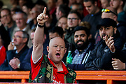 Crawley Town fans celebrates Crawley Town 4th goal during the EFL Sky Bet League 2 match between Crawley Town and Newport County at the Broadfield Stadium, Crawley, England on 20 October 2018.