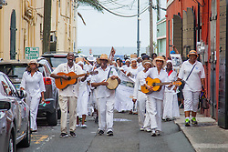 10th Annual Dollar Fo' Dollar Culture & History Tour commemorating the anniversary of the successful protest  demanding better pay by Queen Coziah and the 19th century coal laborers in the streets of downtown Charlotte Amalie.  12 September 2015.  St. Thomas, VI.  © Aisha-Zakiya Boyd