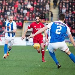 Aberdeen v Kilmarnock, Scottish Premiership, 27th January 2018<br /> <br /> Aberdeen v Kilmarnock, Scottish Premiership, 27th January 2018 &copy; Scott Cameron Baxter | SportPix.org.uk<br /> <br /> Graeme Shinnie attacks for Aberdeen.