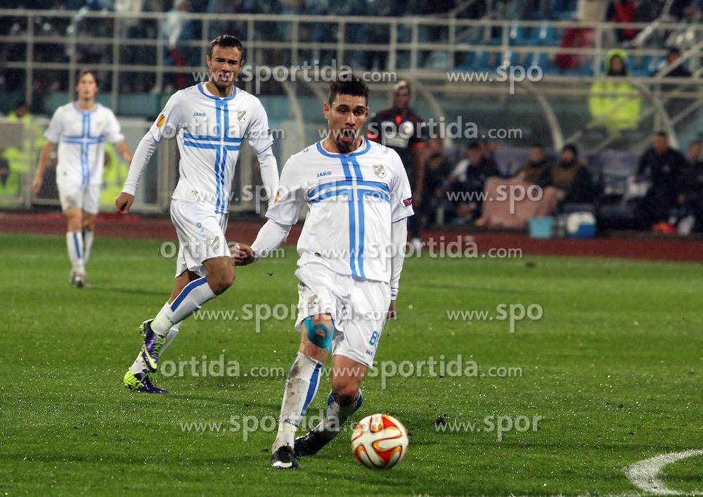 27.11.2014, Stadium Kantrida, Rijeka, CRO, UEFA EL, HNK Rijeka vs FC Standard Liege, Gruppe G, im Bild Moises. // during the UEFA Europa Lduring the UEFA Europa League group G match between HNK Rijeka and FC Standard Liege at the Stadium Kantrida in Rijeka, Croatia on 2014/11/27. EXPA Pictures © 2014, PhotoCredit: EXPA/ Pixsell/ Goran Kovacic<br /> <br /> *****ATTENTION - for AUT, SLO, SUI, SWE, ITA, FRA only*****
