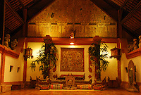 The beautiful Gamelon Hall of the Tandjung Sari Hotel in Bali, Indonesia.
