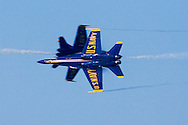 Blue Angels perform knife-edge pass during 2006 Fleet Week airshow in San Francisco