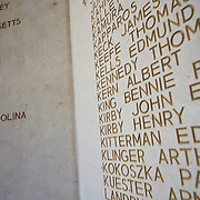 The names of 333 of the missing engraved in the chapel of  Somme American Cemetery and Memorial located in Bony, Aisne, Picardy, France. It contains the graves of 1,844 of the United States' military dead from World War I