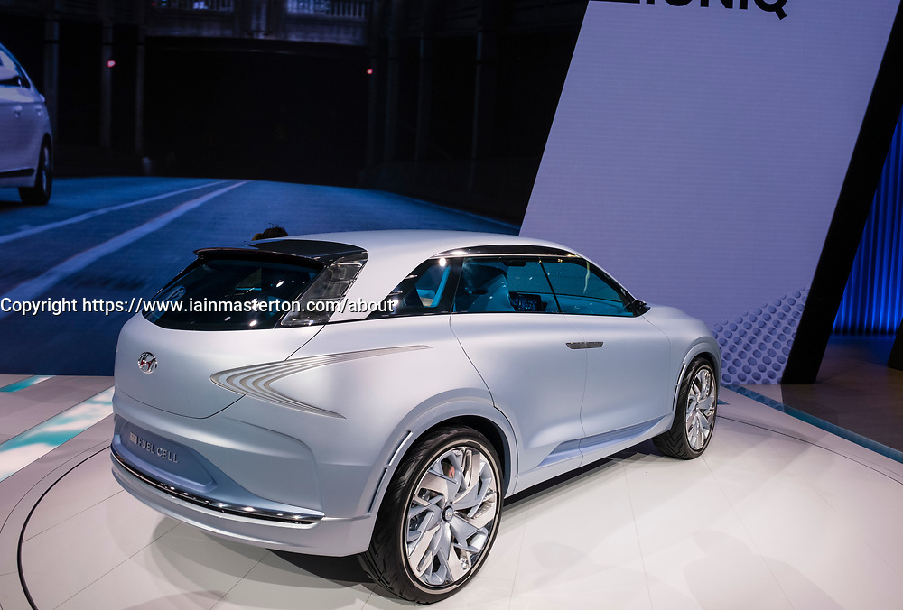 Hyundai FE concept - new Fuel cell SUV at 87th Geneva International Motor Show in Geneva Switzerland 2017