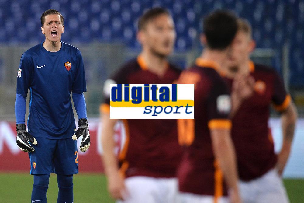 Wojciech Szczesny Roma <br /> Roma 11-04-2016 Stadio Olimpico Football Calcio Serie A 2015/2016 AS Roma - Bologna Foto Andrea Staccioli / Insidefoto