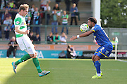 Andy Barcham of AFC Wimbledon controls the ball during the Sky Bet League 2 match between Yeovil Town and AFC Wimbledon at Huish Park, Yeovil, England on 12 September 2015. Photo by Stuart Butcher.