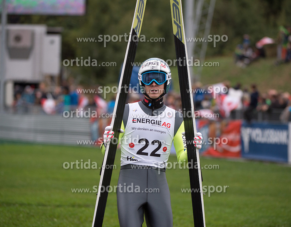 26.09.2015, Energie AG Skisprung Arena, Hinzenbach, AUT, FIS Ski Sprung, Sommer Grand Prix, Hinzenbach, Training, im Bild Michael Hayböck (AUT) during FIS Ski Jumping Summer Grand Prix Trainingsession, at the Energie AG Skisprung Arena, Hinzenbach, Austria on 2015/09/26. EXPA Pictures © 2015, PhotoCredit: EXPA/ Reinhard Eisenbauer