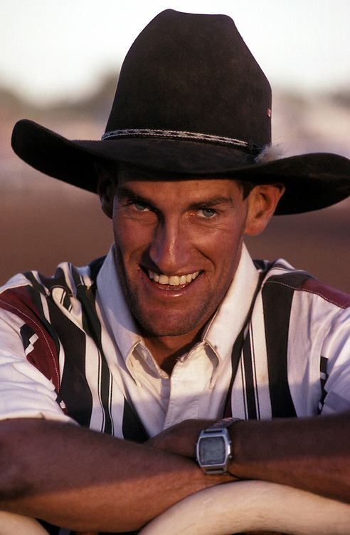 Paul 'Willsy' Greenslade, Ringer (Rough Rider) at the Derby Rodeo, The Kimberley, Western Australia