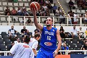 DESCRIZIONE : Trento Nazionale Italia Maschile Trentino Basket Cup Italia Paesi Bassi Italy Netherlands <br /> GIOCATORE : Marco Cusin<br /> CATEGORIA : Tiro Sottomano Before Pregame Riscaldamento<br /> SQUADRA : Italia Italy<br /> EVENTO : Trentino Basket Cup<br /> GARA : Italia Paesi Bassi Italy Netherlands<br /> DATA : 30/07/2015<br /> SPORT : Pallacanestro<br /> AUTORE : Agenzia Ciamillo-Castoria/GiulioCiamillo<br /> Galleria : FIP Nazionali 2015<br /> Fotonotizia : Trento Nazionale Italia Uomini Trentino Basket Cup Italia Paesi Bassi Italy Netherlands