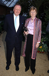 ANDREW & ROSEMARY PARKER BOWLES at the annual Cartier Flower Show Diner held at The Physics Garden, Chelsea, London on 23rd May 2005.<br /><br />NON EXCLUSIVE - WORLD RIGHTS