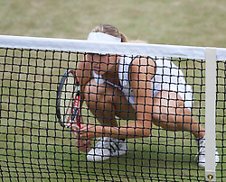 LONDON, ENGLAND - Tuesday, June 29, 2010: Elena Vesnina (RUS) during the Ladies' Doubles 3rd Round match on day eight of the Wimbledon Lawn Tennis Championships at the All England Lawn Tennis and Croquet Club. (Pic by David Rawcliffe/Propaganda)