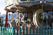 Greece, Epirus, Ioannina Children on a merry-go-round