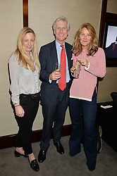 Left to right, ASTRID HARBORD, TRISTAN MILLINGTON-DRAKE and the MARCHIONESS OF BUTE at a private screening of The Anonymous People in aid of Action on Addiction held at The Bulgari Hotel, 171 Knightsbridge, London on 20th May 2015.