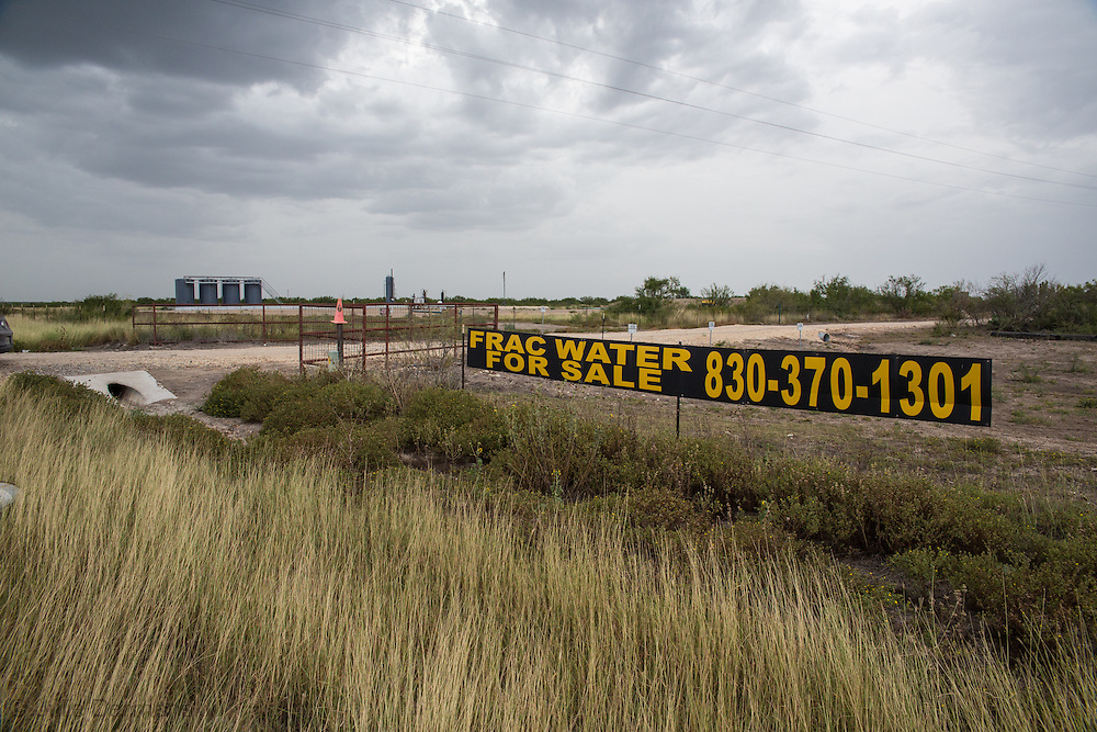 Water for sale to the fracking industry in La Salle County Texas in the Eagle Ford Shale. Despite drought conditions, the fracking in dsutry to use unlimitted water.