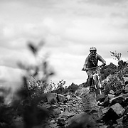 Heather Goodrich riding Singletrack near Pocatello, Idaho.