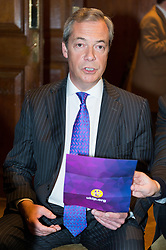 © Licensed to London News Pictures. 27/03/2017.  Former UKIP Leader Nigel Farage attends the UKIP leader Paul Nuttall's keynote speech setting out six key tests by which the country can judge Theresa May's Brexit negotiations. London, UK. Photo credit: Ray Tang/LNP
